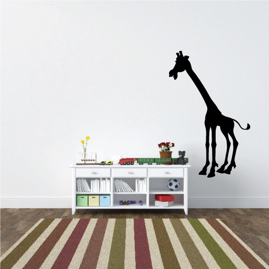 Stretched Out Neck Giraffe Decal