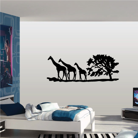 Giraffe Family in Safari Decal