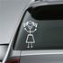 Girl with Curly Hair Decal