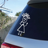 Girl with Curly Hair and Hands Out Decal