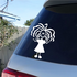 Girl with Long Curls and Arms Out Decal