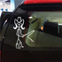 Girl as Cowgirl with Whip Decal