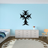 Spiked Cross with Heart Decal