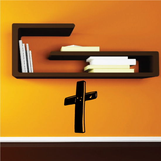 Wooden Grave Cross Decal