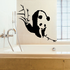 Panda Bear with Bamboo Branches Decal