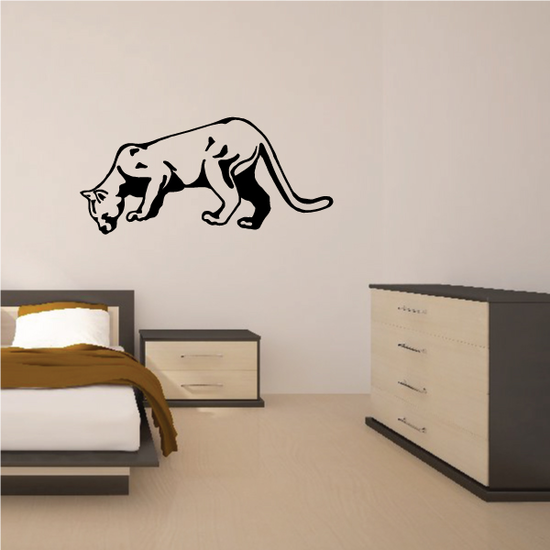Panther Sniffing Decal