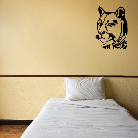 Panther Head Decal