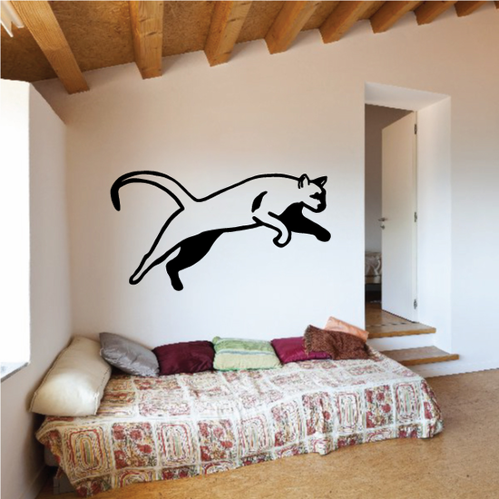 Panther Leaping Decal