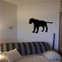 Panther Observing Silhouette Decal
