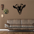 Horned Goat Head Decal