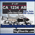 Customized Snowmobile ATV Registration Numbers Vinyl Decal Graphics Kit