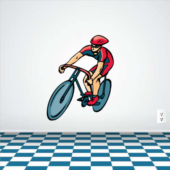 Racing Cyclist Competitor Sticker