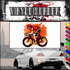 Racing Cyclist with Abstract Background Decal