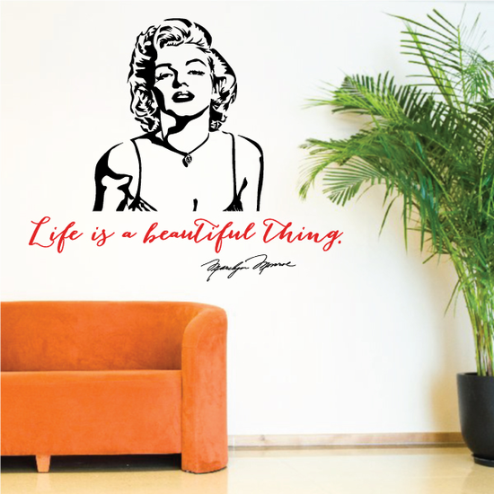 Life Is A Beautiful Thing Marilyn Monroe Wall Decal