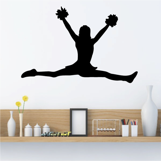 Pom Pom Splitz Cheerleader Decal