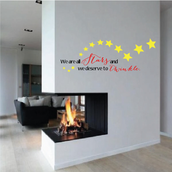 We Are All Stars And We Deserve To Twinkle Marilyn Monroe Wall Decal