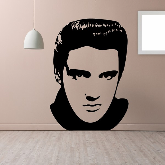 Elvis Face Decal