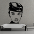 Audrey Hepburn Face Decal