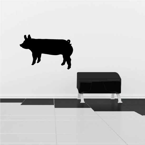 Trotting Pig Decal