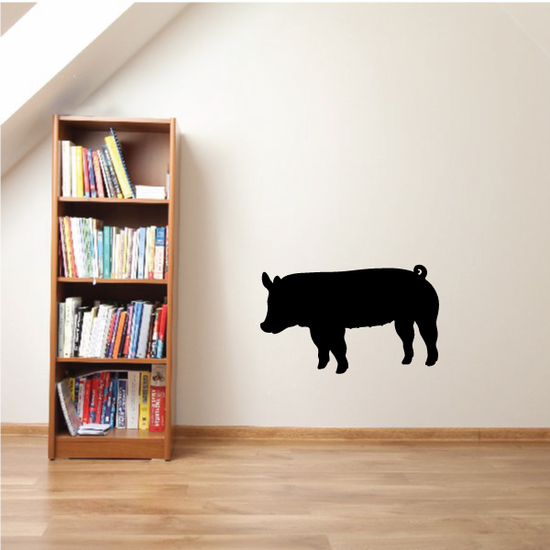 Pig Looking Over Decal