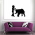 President Barrack Obama Talking to an Elephant Decal