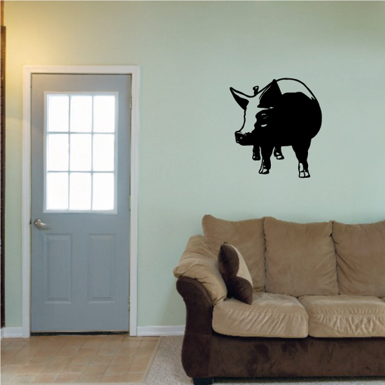 Looking Over Pig Decal