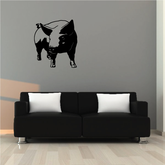 Watching Pig Decal