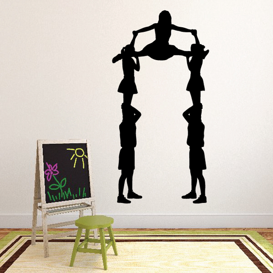Cheerleading Wall Decal - Vinyl Decal - Car Decal - Sil 004