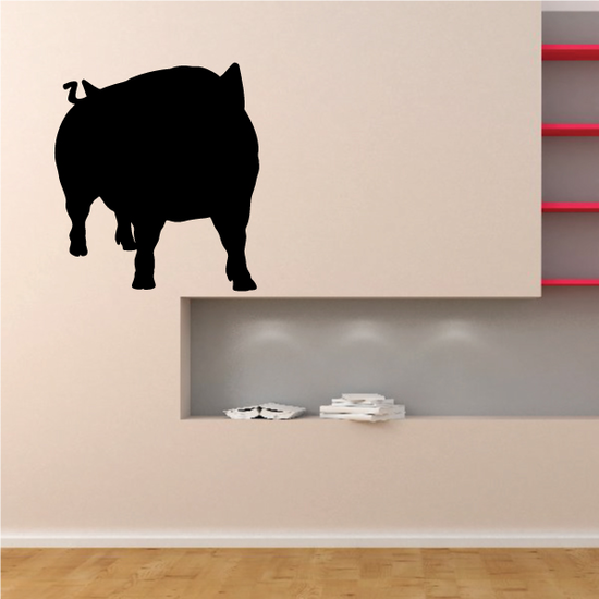 Watching Pig Silhouette Decal