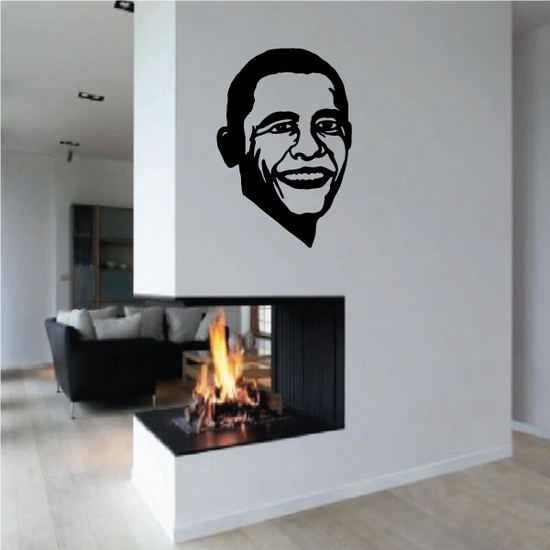 Smiling Barrack Face Decal