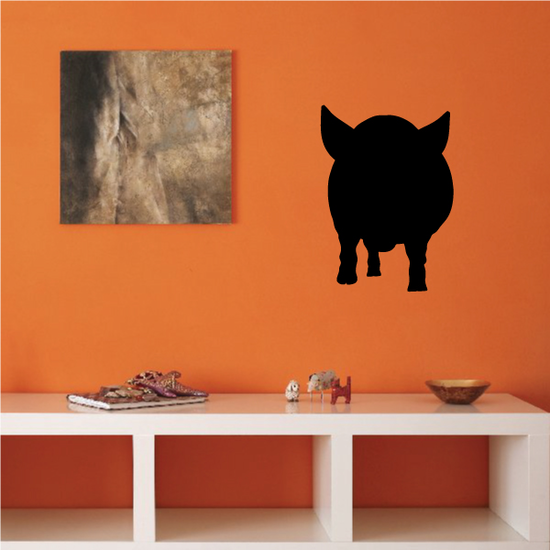 Staring Pig Silhouette Decal
