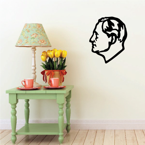 Roosevelt Dime Head Decal