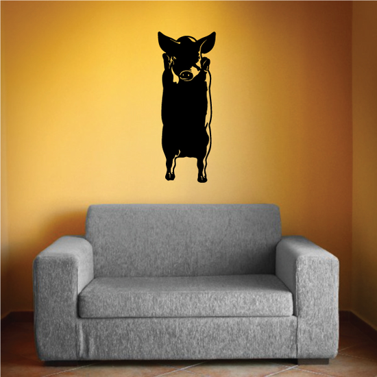 Standing Pig Decal