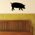 Curious Pig Silhouette Decal