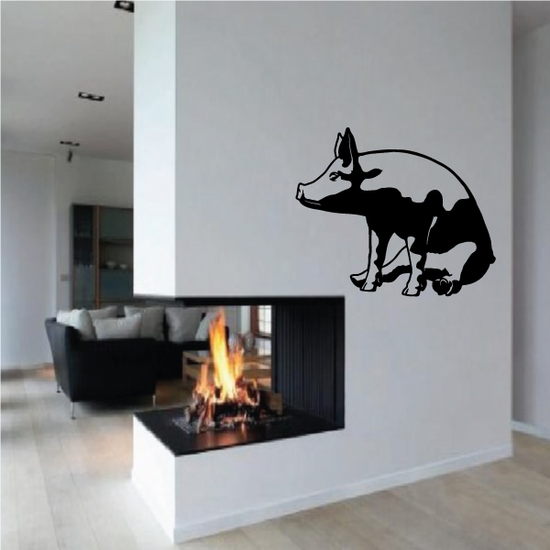 Sitting Pig Decal