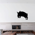 Leaping Pig Silhouette Decal