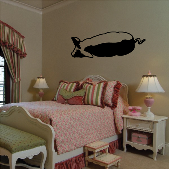 Rolling Pig Decal