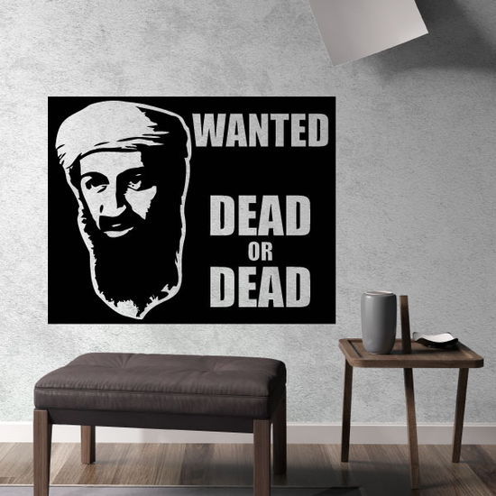 Wanted Dead Or Alive Osama Bin Laden Decal