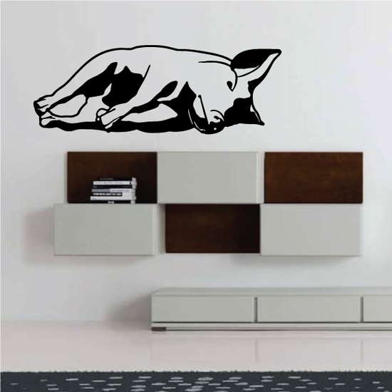 Side Resting Pig Decal
