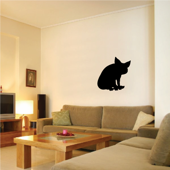 Cute Sitting Pig Silhouette Decal