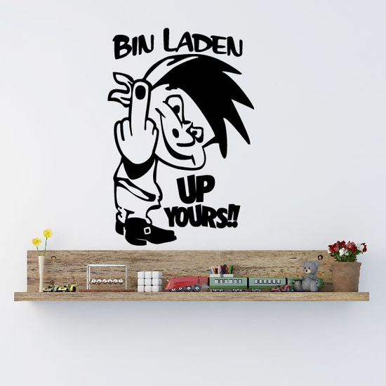 Bin Laden Up Yours Decal