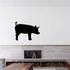 Side Standing Pig Silhouette Decal