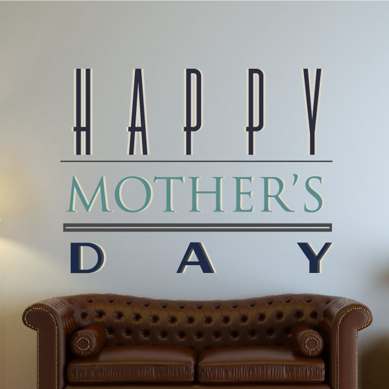 Breathtaking Happy Mothers Day Decal