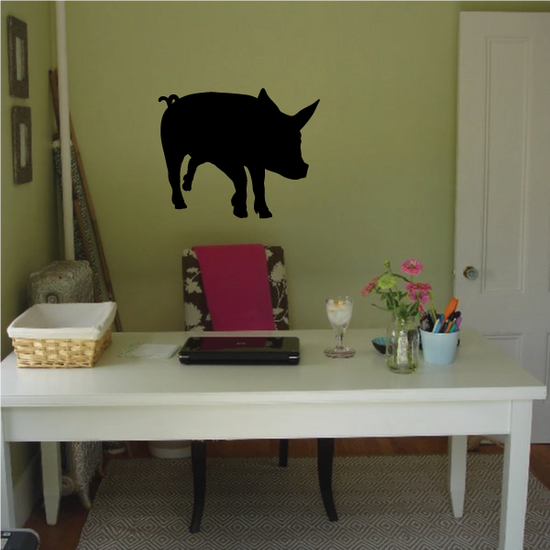 Cute Strolling Pig Silhouette Decal