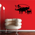 Pig Family Standing Decal