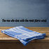 The one who dies with the most fabric wins Wall Decal