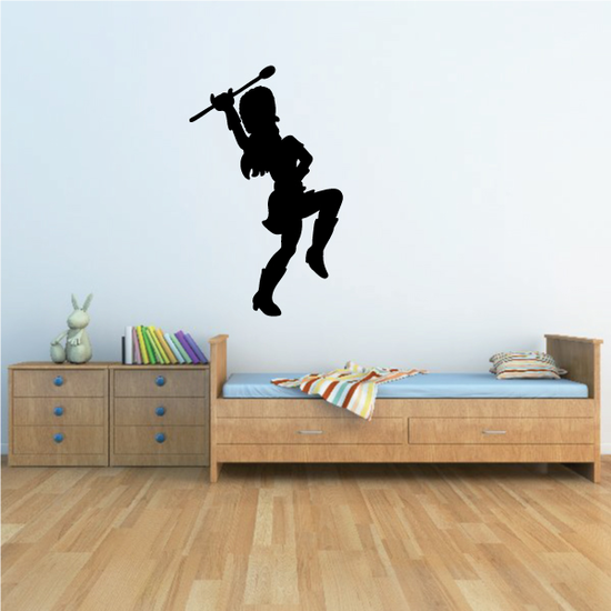 Female Drum Major Marching Decal