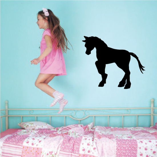 Trotting Pony Silhouette Decal