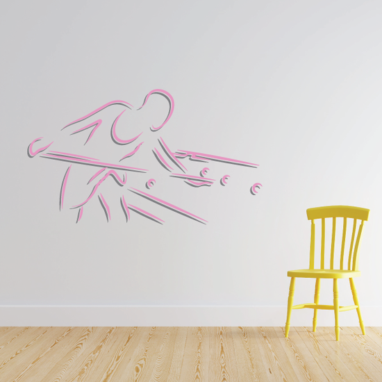 Billiard Leaning Side Player Decal