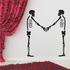 Skeletons Shaking Hands Decal